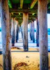 Under the Cayucos Pier No4 (CDay DaytimeStudios w /1 Million views) Tags: beach ca california cayucos cayucousca coastline highway1 landscape morning ocean pacificcoast pacificcoasthighway pacificocean pier water