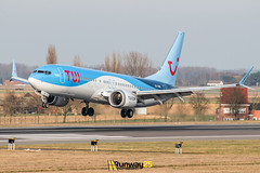 B737 MAX8 TUI Belgium (Runway25 Photography) Tags: airplane airport aircraft aviation air airliner airline zaventem engine ebbr runway brussels bru fly flying sky wings nikon plane photography spotting d5600 flight jet landing wing cockpit belgium