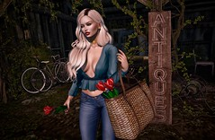 Casual Chic (Trixie Pinelli) Tags: justbecause blueberry uber lagyo level tableauvivant amitie mesh bento maitreya lelutka glamaffair piper hair hairstyle hairdressing accessories jewelry apparel fashion clothing outfit shopping animation pose flowers tulips lumipro photography photographer avatar model modelling blogger blonde