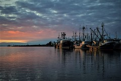Steveston Harbour Sunset (Explored) (SonjaPetersonPh♡tography) Tags: steveston sunset silhouettes fraserriver bc britishcolumbia canada sky colour clouds nikon nikond5300 boats richmond marina stevestonmarina stevestonvillage ships vessels waterscapes nightsky nightskies reflections waterreflections seascapes