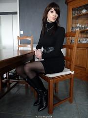 BlackBoots (Laura Wayland) Tags: laura wayland crossdress crossdresser tgirl femboy fetish trans tranny shemale travesti french france boots bottes cuir leather heels bondage