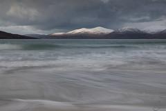 Sunny spell (mvj photography) Tags: ecosse scotland isleofharris outerhebrides sea seascape seashore longexposure landscape slowwater snow luskentyre beach