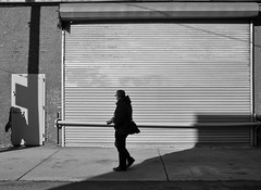 Looking for the Decisive Moment (Kenneth Laurence Neal) Tags: newyorkcity urban cities brooklyn street streetphotography people shadows noir monochrome monotone blackandwhite blackdiamond nikond7100 nikon sigma175028 silhouette contrast