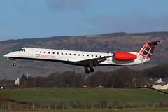 G-SAJC Glasgow 13-3-2019 (Plane Buddy) Tags: gsajc embraer erj 145 loganair glasgow gla
