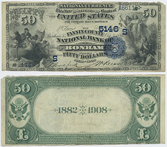 United States $50.00 (fifty dollars) national currency (SMU Libraries Digital Collections) Tags: texas money national us united states currency paper banks notes note banknote banknotes chartered bank banking bonham fannin fannincounty
