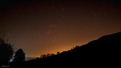 Orion (drelliott0net) Tags: nightsky silhouette night landscape nature stars derbyshire photomatix hill sky cosmos highpeak chinley