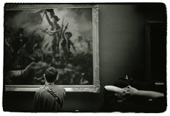 Liberty leading the people (Tamakorox) Tags: paris france louvre painting delacroix libetyleadinthepeople art japan japanese canon f1 kodak iso400 tmax film ilfordrcpaper bw street light shadow analoguecamera 日本 日本人 光 影 喜び ルーブル ドラクロワ 民衆を導く自由の女神 絵画 ルーヴル美術館