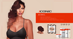 ICONIC_JEWEL_BANNER_SAT (Neveah Niu /The ICONIC Owner) Tags: secondlife sale saturday iconic iconichair mainstore mesh meshhair