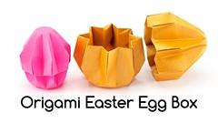 Origami Easter Egg Box Tutorial - Paper Kawaii (paperkawaii) Tags: origami instructions paperkawaii papercraft diy how video youtube tutorial
