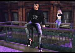 LOTD 382 (Brendo Schneuta) Tags: modulos hair galvanized sweater pants kalback jeans sneakers versov clefdepeau catwa bento sit poses pose wrong event events tmd new releases couple backdrop night mens boy male moda fashion style estilo keepcalm bloggersl blog blogger secondlifeblog secondlife second sl game avatar virtual signature signatureevent city