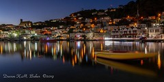 Spice Island Dusk -1974 (islandfella) Tags: town city cityscape water waterfront reflection boats evening blue sea seascape lights hillside island caribbean travel