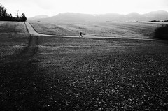 Dryland (stefankamert) Tags: dryland landscape way field mountains people walking ricoh gr grii grain 28mm light tones blackandwhite blackwhite noiretblanc noir bw baw