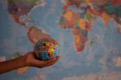 The world is yours (Rushay) Tags: africa backgrounds atlas map globe holding hand world portelizabeth southafrica