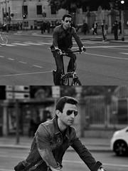 [La Mia Città][Pedala] (Urca) Tags: milano italia 2018 bicicletta pedalare ciclista ritrattostradale portrait dittico bike bicycle nikondigitale scéta biancoenero blackandwhite bn bw 11837