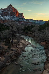 The Watchman-1 (mnryno) Tags: zion national park watchman utah landscape river mountain sunset