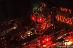 When removing red eyes don't work. (dudi_dudewitz) Tags: terminator gaming retro pinball skull glowing