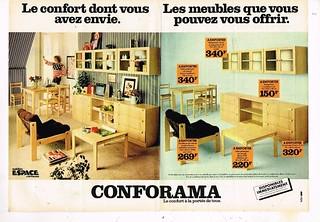 Publicité  1978 Meubles Mobilier Conforama