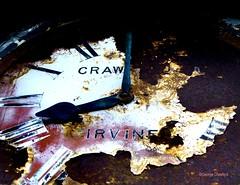 Irvine Harbour Clock (g crawford) Tags: irvine harbour ayrshire northayrshire crawford clock time tempus fugit tempusfugit rust old age corrosion romannumerals harbor