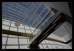 _7100845 mf copy 01 (Michael Fleischer) Tags: hellerup summer light curves pattern waterfront sky blue abstract building glass wall nikon 1224mm f40 ed window lines geometric