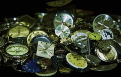 Lost time (The Vintage Lens) Tags: watch watches parts time clock face