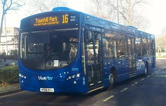 Bluestar 2292 is on Vincent's Walk while on route 16 to Townhill Park via Northam and Bitterne. - HF64 BSU - 9th January 2019 (Aaron Rhys Knight) Tags: bluestar 2292 hf64bsu 2019 vincentswalk southampton hampshire gosouthcoast goahead volvob7rle wrighteclipseurban2