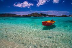 Crystal Clear Water-2419 (islandfella) Tags: sandy island red boat water beach sea carriacou grenada grenadines caribbean shore west indies