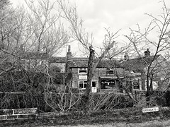 The Butchers Arms, Silsden (tubblesnap) Tags: bw black white mono the butchers arms silsden cobbydale yorkshire