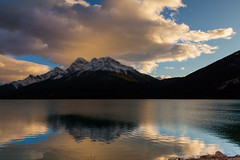 Spray Lakes Resevoir (JohnRWooding) Tags: 5dmkii 24105mm canon canmore canadian clouds canada calm colours light landscape lake llens alberta