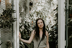 (yaydreams) Tags: greenhouse green tacoma washington nature spring sunlight sun leaves plant botany floral bloom trees lychen portrait woman indoors outdoors natural centere pastel