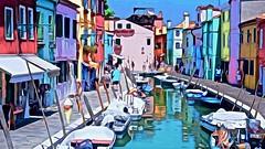 Burano, Italy (glenn2meyer) Tags: burano canals boats colorful italy vacation travel watercolor sony a6000