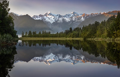 Matheson (inkasinclair) Tags: lake matheson sunrise new zealand south island west coast landscape photography reflection