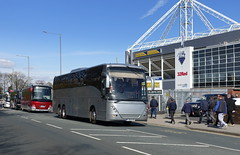 Preston v Sheffield United at Deepdale - away coaches (Tony Worrall) Tags: pne football soccer stadium game candid people fans crowd supporters prestonnorthend sheffield sheffieldunited away preston lancs lancashire city welovethenorth nw northwest north update place location uk england visit area attraction open stream tour country item great britain english british gb capture buy stock sell sale outside outdoors caught photo shoot shot picture captured ilobsterit instragram photos architecture coach street travel bus