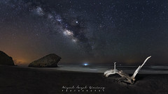 Playa de Monsul (Miguel Ángel Giménez) Tags: via lactea almeria monsul milky way nightshot nocturnar stars estrellas