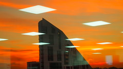 (nemo_the_great) Tags: sky sunset red redsky abstract indoorreflections reflection lights