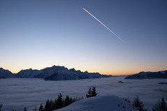 Winter poetry (LB1415) Tags: seaofclouds twilight winter january snow clouds pentax k200d rawtherapee fog alps landscape slovenia europe lb1415 allrightsreserved nature mountains stillness peace interesting sky poetry zima