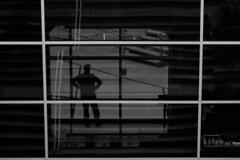 """""""l'Ombre""""  Paris - La Défense - sur le toit de la Grande Arche (roger gabriel simon) Tags: flickr bnw bw noiretblanc blackandwhite photography schwarzundweiss shadows canon canonpowershotg5x paris grandearchedeladéfense abstract ombres"""