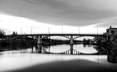 Pont de St Just St Rambert (mick42m) Tags: bridge blackandwhite bnw bw noiretblanc monochrome pont longexposure hoya filter poselongue saintjuststrambert stjust loire france canon 77d canonfrance