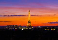 sunset in paris (Benoit photography) Tags: sunset paris orange lightroom eiffel tower