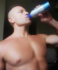 pathwater (ddman_70) Tags: shirtless pecs muscle chest water