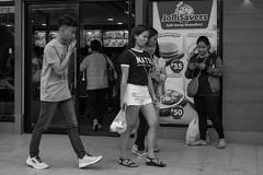 Jollimeal (Beegee49) Tags: jollibee street fast food lunch filipina happy planet luminar sony a6000 bacolod city philippines asia black white monochrome bw
