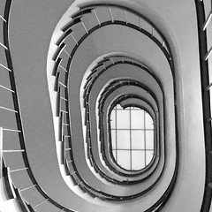 Up (imaugedesbetrachters66) Tags: stairway blackandwhite up spiral
