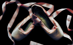 Ballerines (Le dahu) Tags: ballet ballerine dance danse shoes pointe pink chausson rose satin ruban d610 darktable nikon tamron 70200 70mm