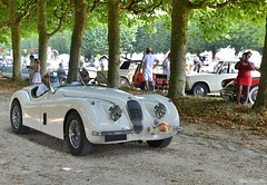 Jaguar XK 120 roadster (pontfire) Tags: jaguar xk 120 roadster jag sports cars voiture sport sportive british anglaise old antique classic vieille ancienne collection car auto autos automobili automobile automobiles voitures coche coches wagen pontfire oldtimer vintage classique bil αυτοκίνητο 車 автомобиль en anciennes 2018 de carro carros coventry ltd william lyons vieux european ancien automotive classics gb anglais english britain england prestige exception d luxe luxury 11 ème traversée estivale paris xk120 blanche white décapotable convertible cabriolet