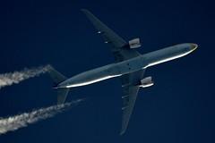 Jet Airways Boeing 777 VT-JEH (stephenjones6) Tags: aircraft airways plane civil aviation boeing b777 jet contrail chemtrail ott highaltitude vapour vapourtrails vtjeh nikon d3200 dobsonian skywatcher telescope b77735rer msn35166 blue indian