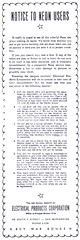 Notice to Neon Users from Electrical Products Corporation - 1943 (hmdavid) Tags: vintage newspaper ad advertisement notice neon sign users customers electricalproductscorporation epco sanbernardinosun 1940s 1943 worldwarii