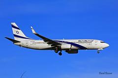 Boeing B737 ~ 4X-EKF  El Al (Aero.passion DBC-1) Tags: spotting cdg 2013 dbc1 david aeropassion biscove aviation airport roissy aircraft avion plane airlines airliner boeing b737 ~ 4xekf el al