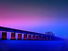 Storstrøm Bridge (ibjfoto) Tags: bridge bro falster ibjensen ibjfoto sjælland storstroemsbroen storstrømsbroen zealand outdoor solopgang sunrise