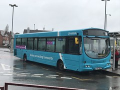 AMN 3731 @ Cannock bus station (ianjpoole) Tags: arriva midlands vdl sb200 wright pulsar 1 yj57brv 3731 working route 3 cannock bus station walsall