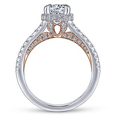 Slim Engagement Ring Crafted From 14k White Gold And Accented With Petite Round Diamonds Hiding in 14k Rose Gold (diamondanddesign) Tags: slimengagementringcraftedfrom14kwhitegoldandaccentedwithpetiterounddiamondshidingin14krosegold er13824r4t44jj bridal rd engagement rings gbbr 65 067 ct gabriel ny diamond 14k white gold rose lifestyle