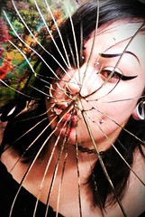 (ashhbash) Tags: mirror glass broken reflection pierced piercings
